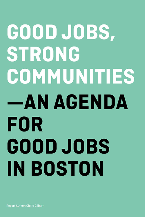 GOOD JOBS, STRONG COMMUNITIES